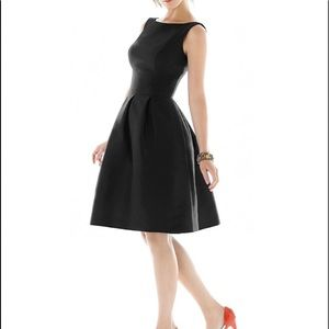 Alfred Sung Dessy Black Cocktail Dress Size 6 NWT